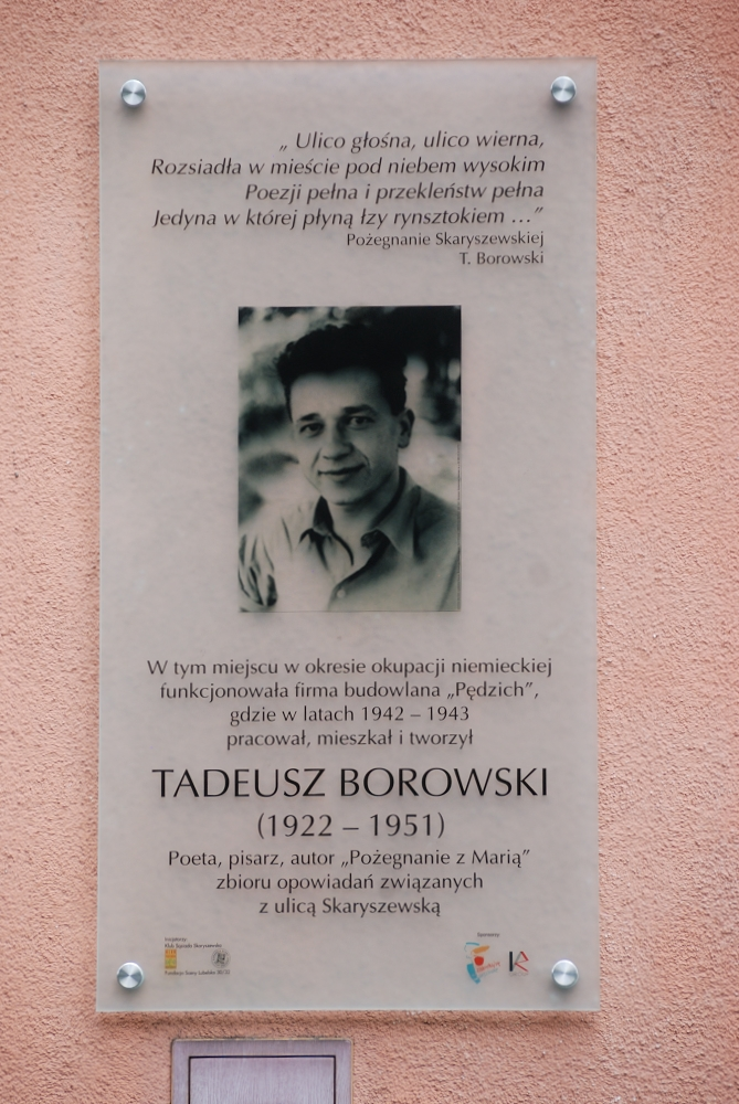 Tablica Tadeusza Borowskiego