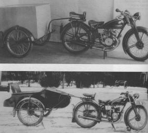Oryginalne modele motocyki z przyczepkami